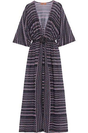 MISSONI MARE Woman Mare Floral-appliquéd Metallic Crochet-knit Kaftan Dark Size 38