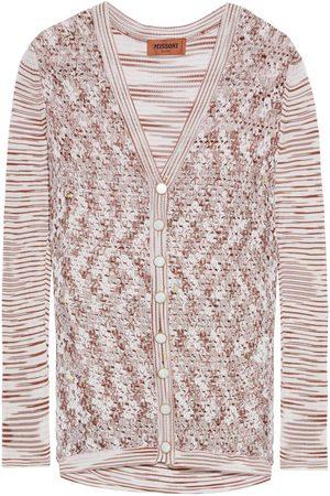 Missoni Woman Paneled Crochet-knit Cardigan Blush Size 40
