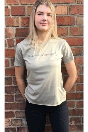 Don't Tell Mama Alexa T-Shirt in Light Khaki