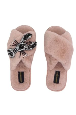 Laines London Fluffy Mollie Monochrome Slippers