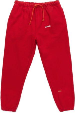 alife kickin Generic logo fleece sweatpant red