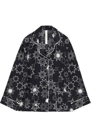 Siobhan Molloy Women Pajamas - Arabic Star Print Classic Silk Pyjama Set