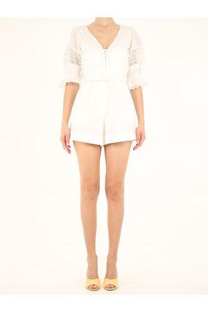 Self-Portrait Women Sweats - Short ebroidered jumpsuit