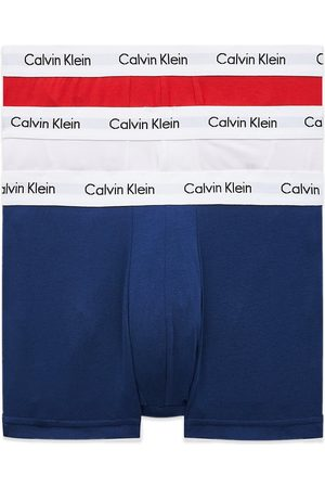 Calvin Klein Low Rise Cotton Stretch Trunks - White/Red/