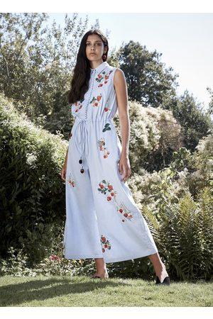 Alice Archer Women Jumpsuits - Gladys Organic Cotton Embroidered Jumpsuit
