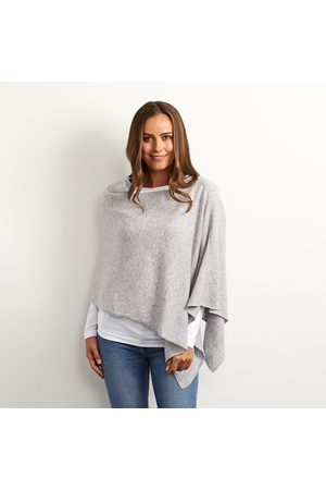 Cove Lucy grey cashmere poncho