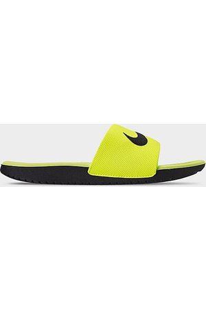 Nike Big Kids' Kawa Slide Sandals in /Volt Size 5.0