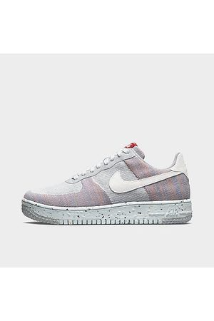 Nike Men Casual Shoes - Men's Air Force 1 Crater Flyknit Casual Shoes in Grey/Wolf Grey Size 7.5 Knit/Linen