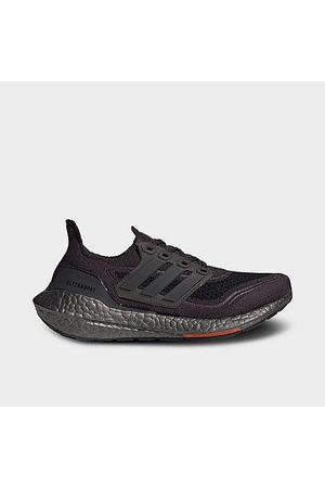 adidas Boys' Big Kids' UltraBOOST 21 Primeblue Running Shoes in Black/Carbon Size 3.5 Knit
