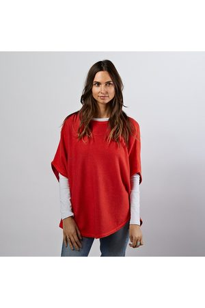 Cove Flora flame reversible poncho