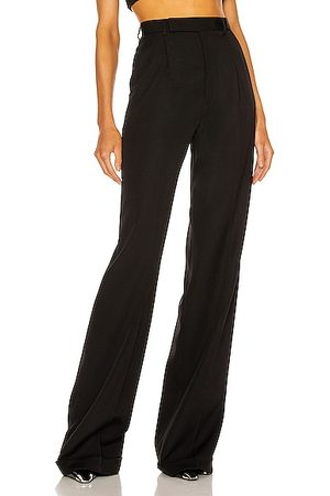 Saint Laurent High Waisted Wide Leg Pant in