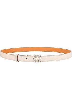 Loewe L Buckle Belt in Ivory