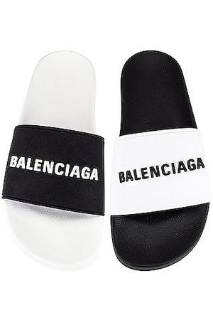 Balenciaga Logo Pool Slide