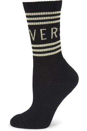 Versace Women Socks - Women's Logo Crew Socks - - Size Large