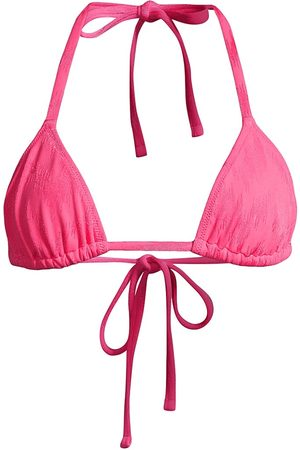 Solid and Striped Women Bikinis - Women's The Iris String Bikini Top - Tonal Zigzag Watermelon - Size XXS