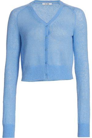Re/done Women's 60s Slim Cardigan - Sky - Size Medium