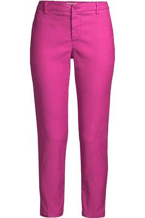 120 Lino Women Capris - 120% Lino Women's Linen Blend Capri Pants - Orchid - Size XL