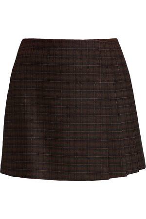 ALICE+OLIVIA Women Mini Skirts - Women's Semira Pleated Mini Skirt - Neon - Size 14