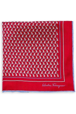 Salvatore Ferragamo Men's Elephant-Print Pocket Square