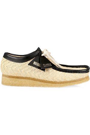 Clarks Originals Men Shoes - Men's Raffia Wallabee Shoes - Natural - Size 13