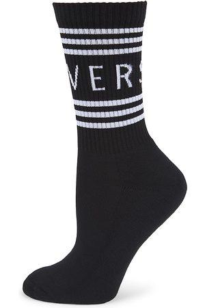 VERSACE Women's Logo Crew Socks - - Size Small
