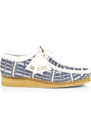 Clarks Originals Men Shoes - Men's Indigo Leather-Trimmed Wallabee Shoes - Indigo Multi - Size 11