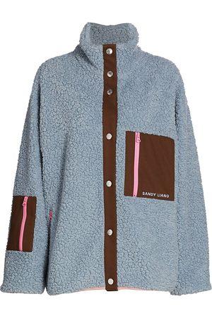 Sandy Liang Women Fleece Jackets - Women's Tooth Fleece Jacket - Angel - Size XS