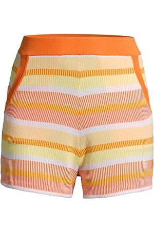 Solid and Striped Women's The Sophie Striped Shorts - Technicolor Mosaic Sorbet - Size Large