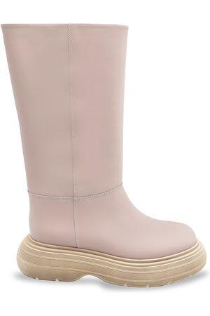 Gia Borghini Women's Tall Chunky-Sole Boots - Nude - Size 7