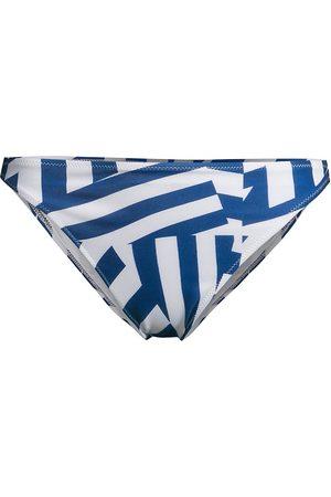 Solid and Striped Women Bikinis - Women's The Tati Broken Stripes Bikini Bottom - Midnight - Size Small