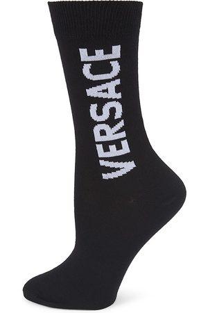 Versace Women's Logo Crew Socks - - Size Medium