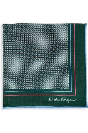 Salvatore Ferragamo Men's Gancini Silk Pocket Square