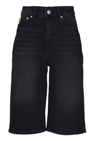 Ganni Women Bermudas - High waist Bermuda shorts