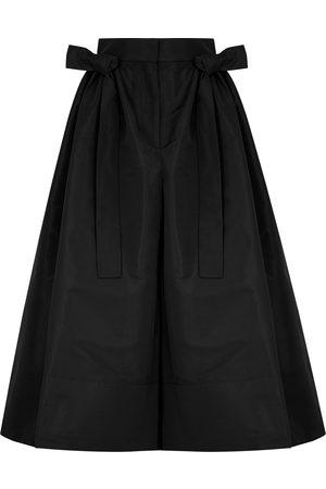 Alexander McQueen Bow-embellished taffeta culottes