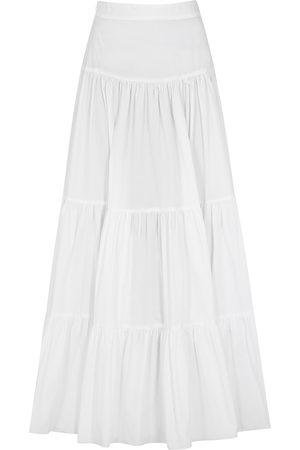Bird & Knoll Women Maxi Skirts - Elouise tiered cotton maxi skirt