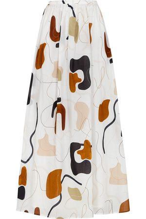 Bird & Knoll Women Printed Skirts - Rae printed cotton maxi skirt