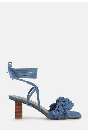 Missguided Knotted Tie Up Heeled Sandals