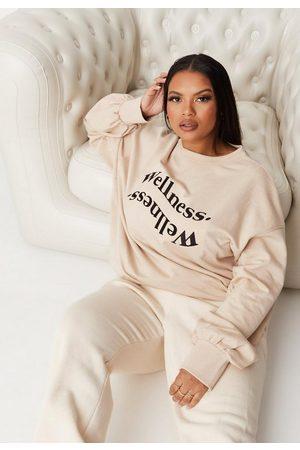 Missguided Plus Size Sand Wellness Oversized Sweatshirt