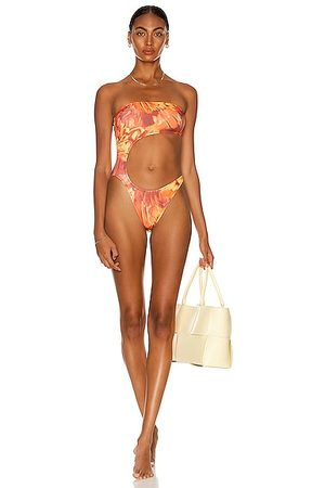 Melissa Simone Cut Out One Piece Swimsuit in