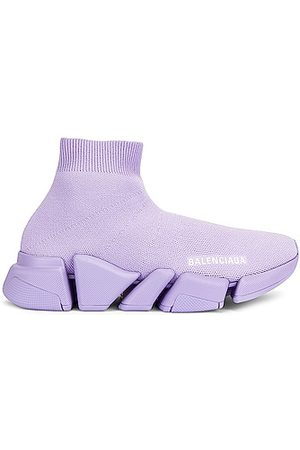 Balenciaga Women Sneakers - Speed Lt Graffiti Sneakers in Lavender