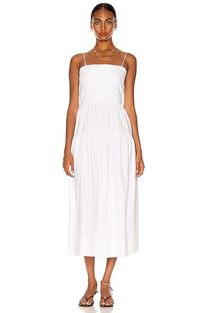 BASSIKE Cotton Tie Back Summer Dress in