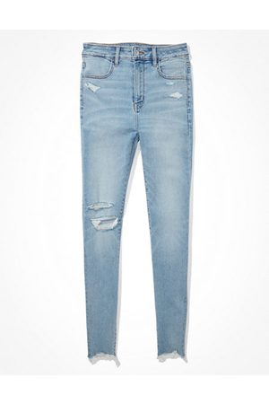 American Eagle Outfitters Women Jeggings - Next Level Ripped Highest Waist Jegging Women's 2 Short
