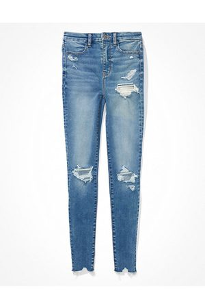 American Eagle Outfitters Forever Soft Ripped Super High-Waisted Jegging Women's 2 Regular