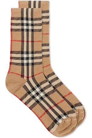 Burberry Men Socks - Checked Sock