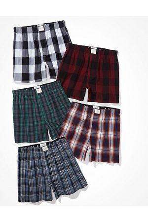 American Eagle Outfitters O Plaid Stretch Boxer Short 5-Pack Men's XS