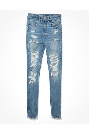 American Eagle Outfitters Next Level Ripped Highest Waist Jegging Women's 2 Long