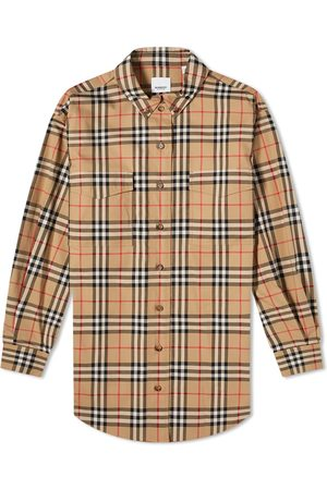 Burberry Men Casual - Oversized Checked Shirt
