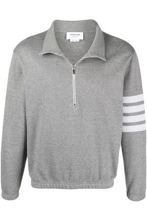 Thom Browne Men Sweatshirts - 4-Bar performance top - Grey