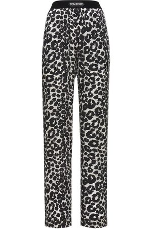 Tom Ford Women Pajamas - Printed Logo Silk Satin Pajama Pants