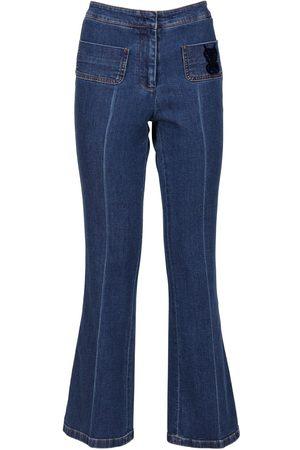 Giambattista Valli Women Flares - Mid Rise Flared Denim Jeans